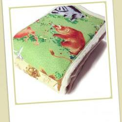 Cloth Diaper Burp Cloths made with Little Golden Book fabric, set of 2